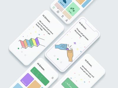 Bemind mockup illustration animation website web ux minimal flat designeveryday app ui experience design