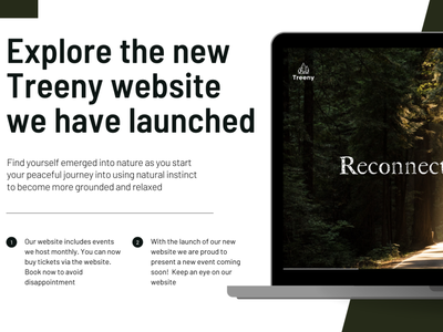 Treeny Interactive Website illustrator design branding illustration website web minimal ui experience design designeveryday