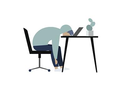 burnout app animation website web ux ui flat minimal experience design designeveryday