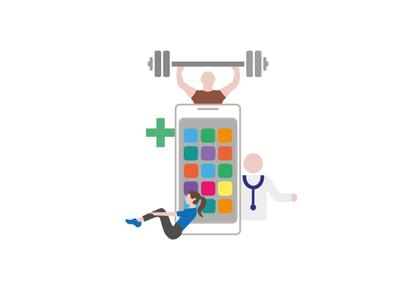 Health and Fitness Apps app animation website web ux ui experience design minimal flat designeveryday
