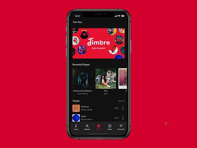 Timbre Sampler Feature (Music App) design system music music app design ux ui forsale uikit
