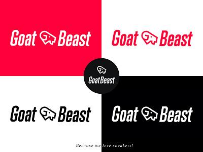 GoatBeast Logo illustration typography branding ecommerce design logodesign goat logo goatbeast sneakers logo goat