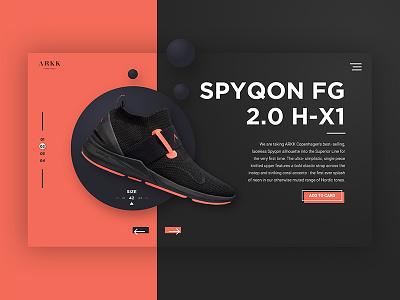 Arkk Sneakers webdesign sneakers shoes ux ui