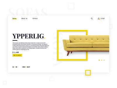 Sofa Ecommerce web ux ui furniture sofa ecommerce
