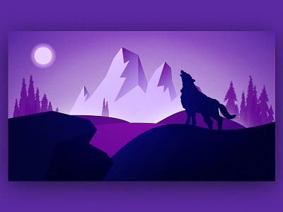 Wolf Illustration illustration design illustrator art wolf