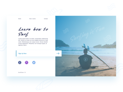 Daily UI #001  |  Sign Up Page 001 webdesign web design ux ui daily challange