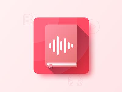 Daily UI #005 | App Icon design rebound audiobooks audiolibrary logo illustation icon appicon app