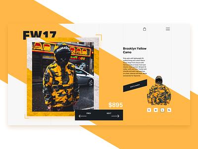Supreme Product Page ecommerce composition layout product ux ui design web webdesign fashion supreme