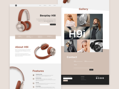 Beoplay Landing Page landing page typography ux ui product ecommerce web webdesign design beoplay