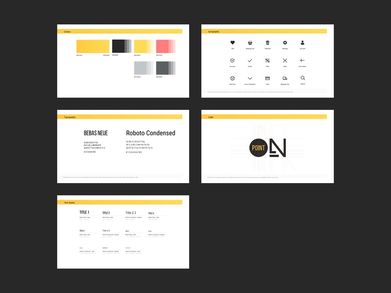 OnPoint Guidelines product typography denmark ecommerce ui design guidelines fashion app ux ui kit ui pack app