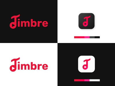 Timbre denmark music app branding product vector logo design