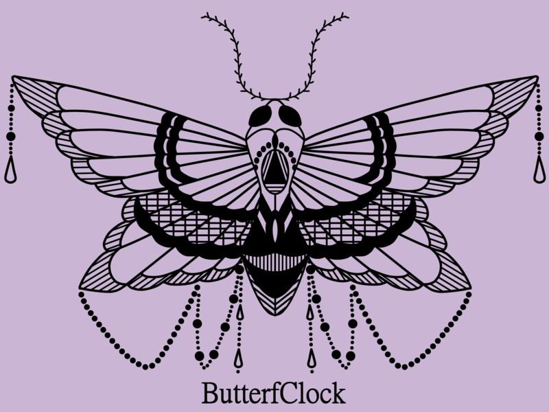 Butterf fly insect butterflies design icon vector dark art dark polilla butterfly illustration