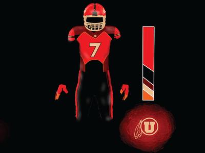 Utah Football Concept Sketch