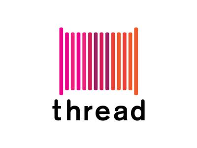 Thread on white