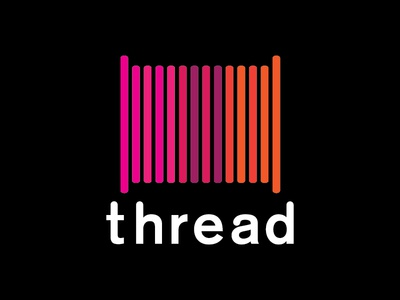 Thread on black
