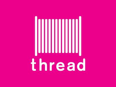 Thread on pink