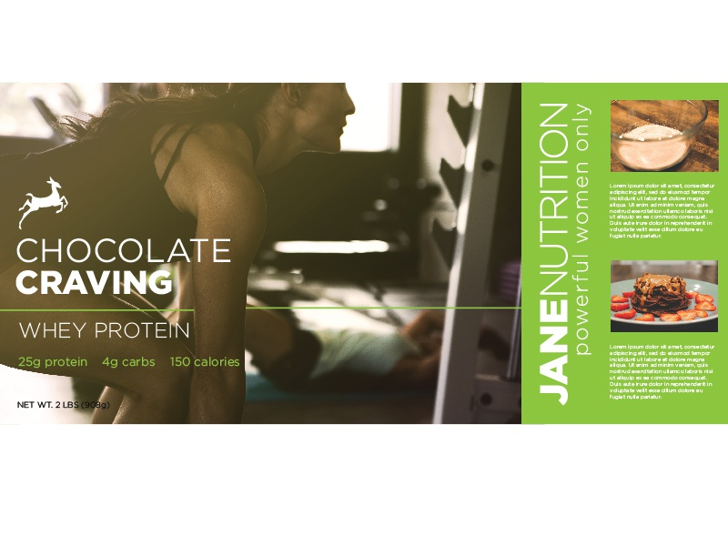 Jane Nutrition Whey Protein Packaging fitness photography packaging