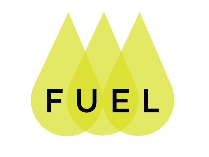 Fuel Logo brand color logo
