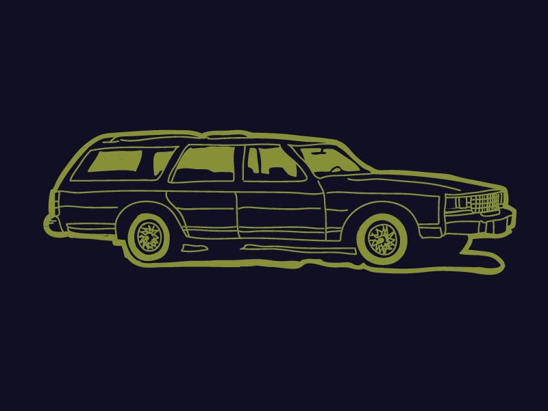 Station Wagon Logo Icon sketch handdrawn automobile