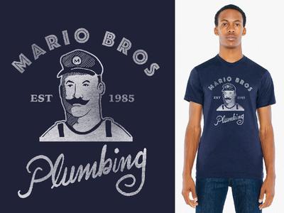 Mario Bros Plumbing Shirt