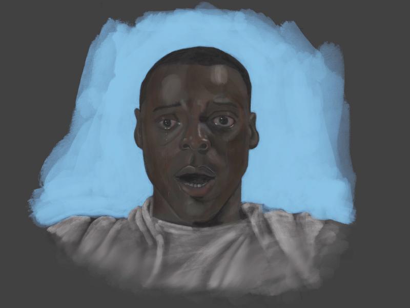 GET OUT portrait procreate painting getout