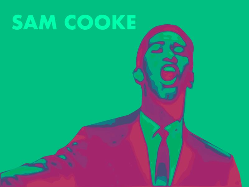 Sam illustrator vector color typography design art poster music sam cooke
