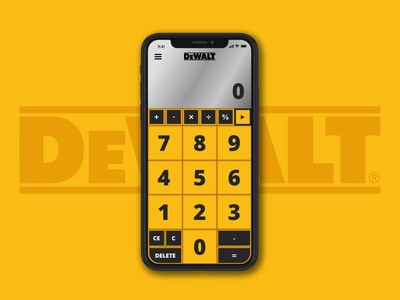 DeWALT Calculator - Daily UI 004