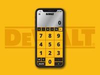 DeWALT Calculator - Daily UI 004