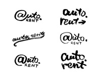 Auto.Rent all raw lettering sketches