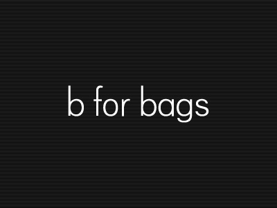 b for bags logotype