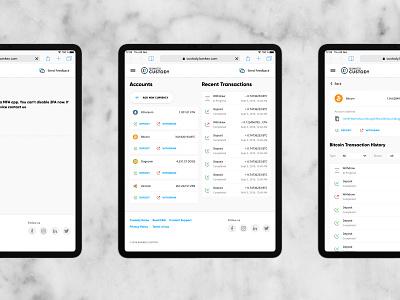 Crypto Custody / Crypto Storage blockchain crypto dashboard crypto currency