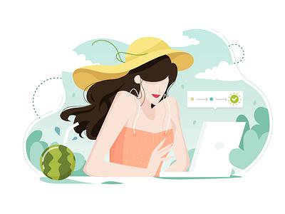 Simple illustration -- 03 flat design vector dashboard ux illustration ui