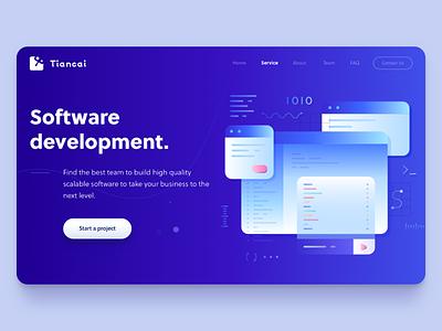 Software development page binary screen software development
