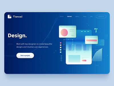 Design Page canvas artboard vector design
