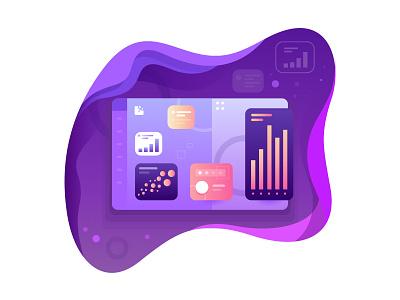 Dashboard report data chart bashboard