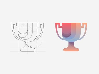 Trophy Logo design v2 illustration logodesign cup hackathon award gradient ui logo trophy