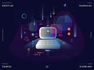 Login page dashboard illustration ai digitalart digital uidesign ui dark theme keyboard arrow laptop computer registration login page login