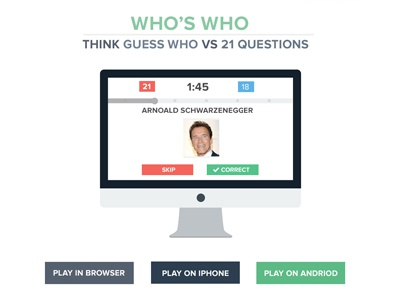 Who's Who App flat flat design game app