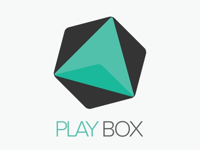 Playbox logo design flat design logo concept logo