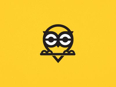 Owl Rebound animal rebound owl vector nature design