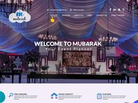 Mubarak One pager Web layout