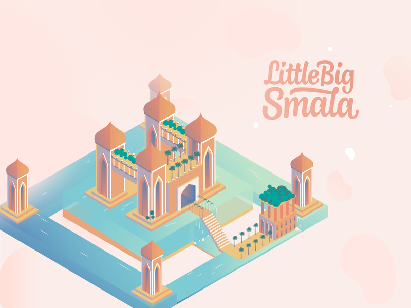 Little Big Smala work management styleframe storyboard map mobile motion smala modern refused monument valley design vector global application gradient illustration animation