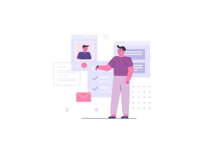 Osvald Teamwork Illustrations 6 work vector ux teamwork team ui design illustration flat