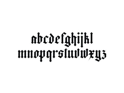 Blackletter typeface.