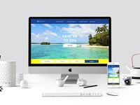 Website design for a cruise line