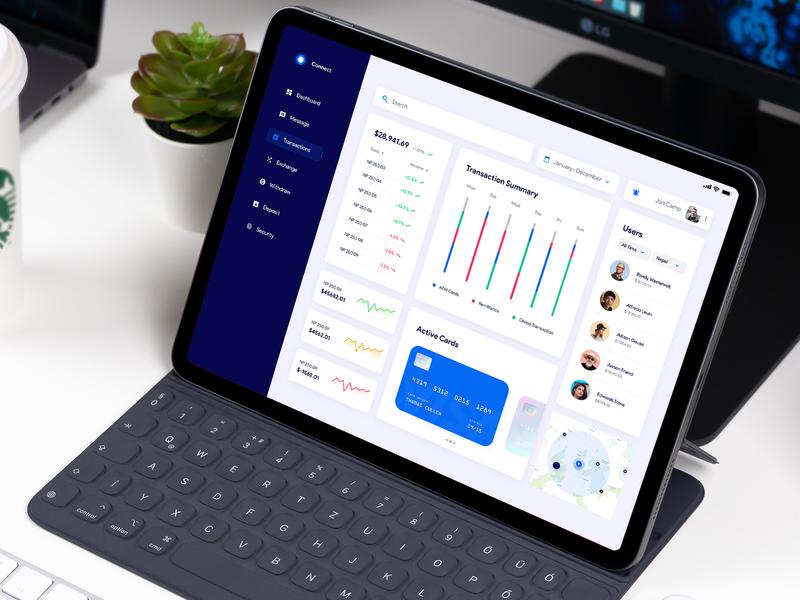 Banking Dashboard design ux ui fintech banking figma mockup freebie dashboard product design user experience userinterface