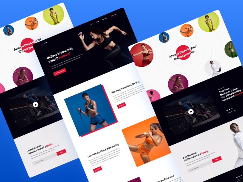Fit Life Fitness Landing Page landing gym fitness landing page ux ui
