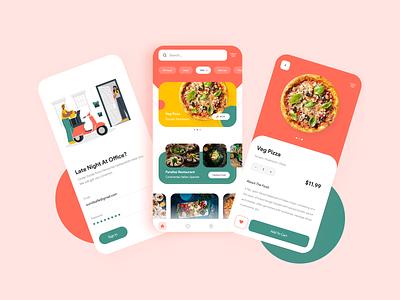 Food App uiux design illustration figma minimal e-commerce delivery foodapp productdesign ux ui app