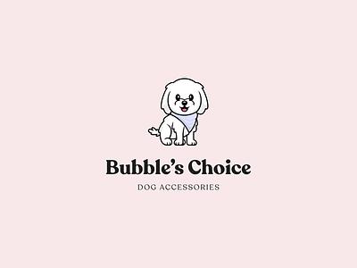 Bubbles Choice Branding uiux dogbrand bubbles brand identity cute doglogo icon vector logo minimal illustration branding figma