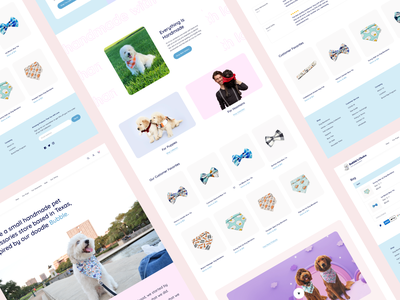 Bubbles Website website design dogs cute petshop typography web design website productdesign design figma uiux